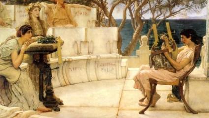 Alma Tadema - Sapho & Alcaeus