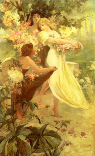 Alphonse Mucha - Spirit of Spring
