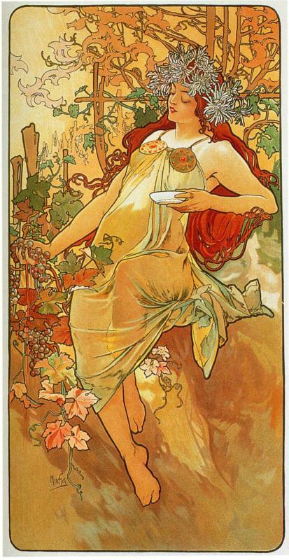 Alphonse Mucha - The Autumn