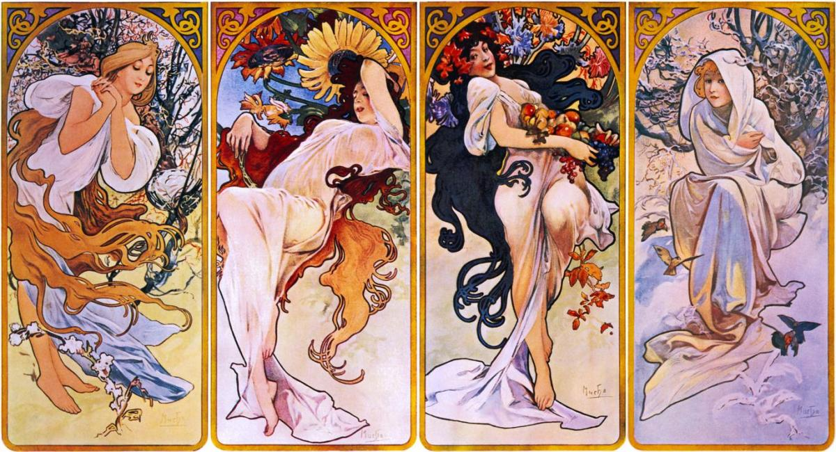 Alphonse Mucha - The four Seasons