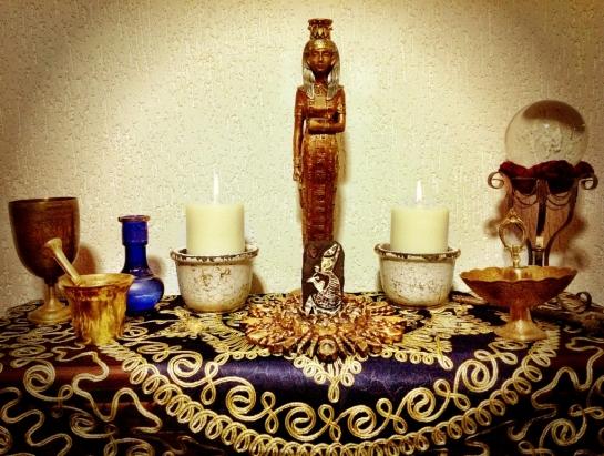 Altar de Yule.