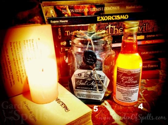 agua de guerra, sal negro, garden of spells, exorcismo