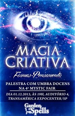 "Palestra ""MAGIA CRIATIVA: Formas Pensamento"""